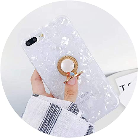 Amazon.com: Ring Stand Holder Case for iPhone 7 8 Plus Dream Shell Phone Cases for iPhone X 7 6 6s Plus IMD Silicone TPU Back Cover,Pink,for iPhone X: Cell ...