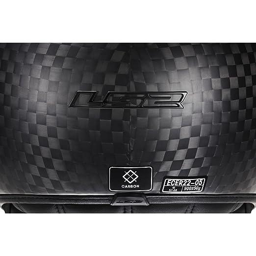 Amazon.com: LS2 Helmets Cabrio Carbon Open Face Motorcycle Helmet with Sunshield (Black, Small): Automotive