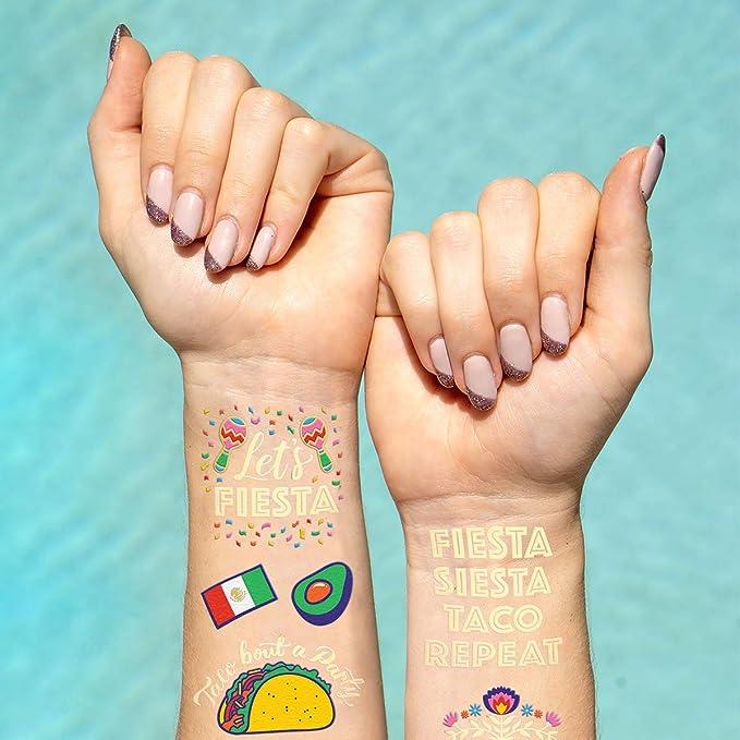 xo, suministros de fiesta de Fetti tatuajes metálicos – 40 estilos ...