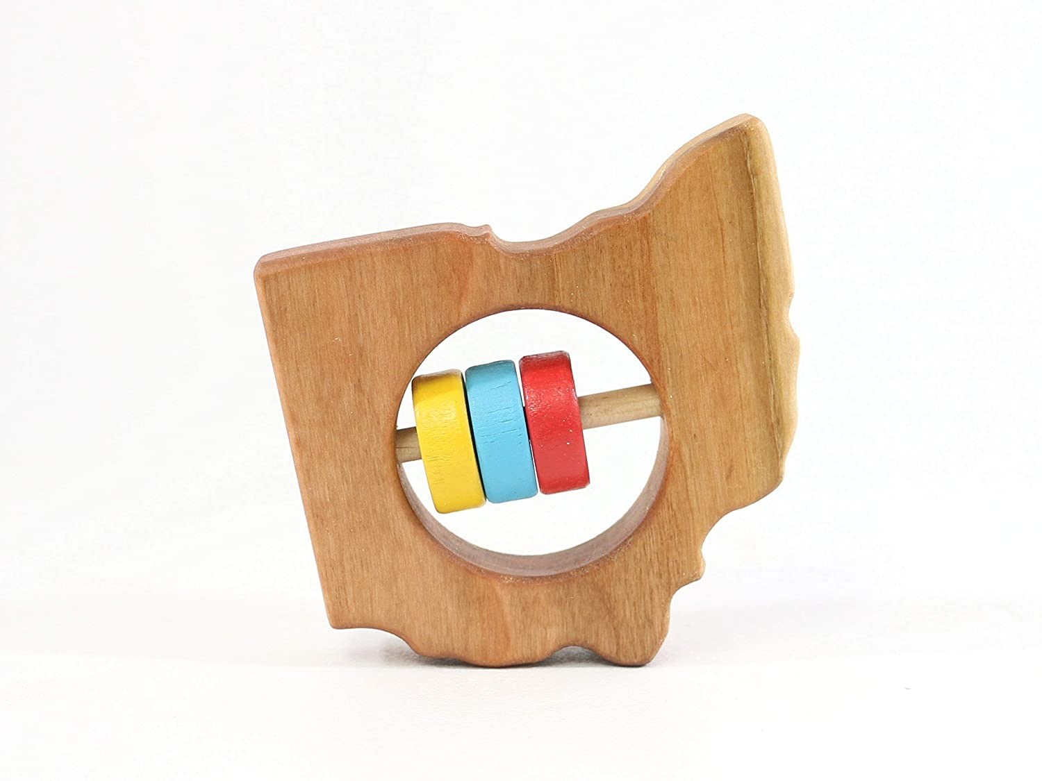Ohio State Wooden Baby Rattle ™