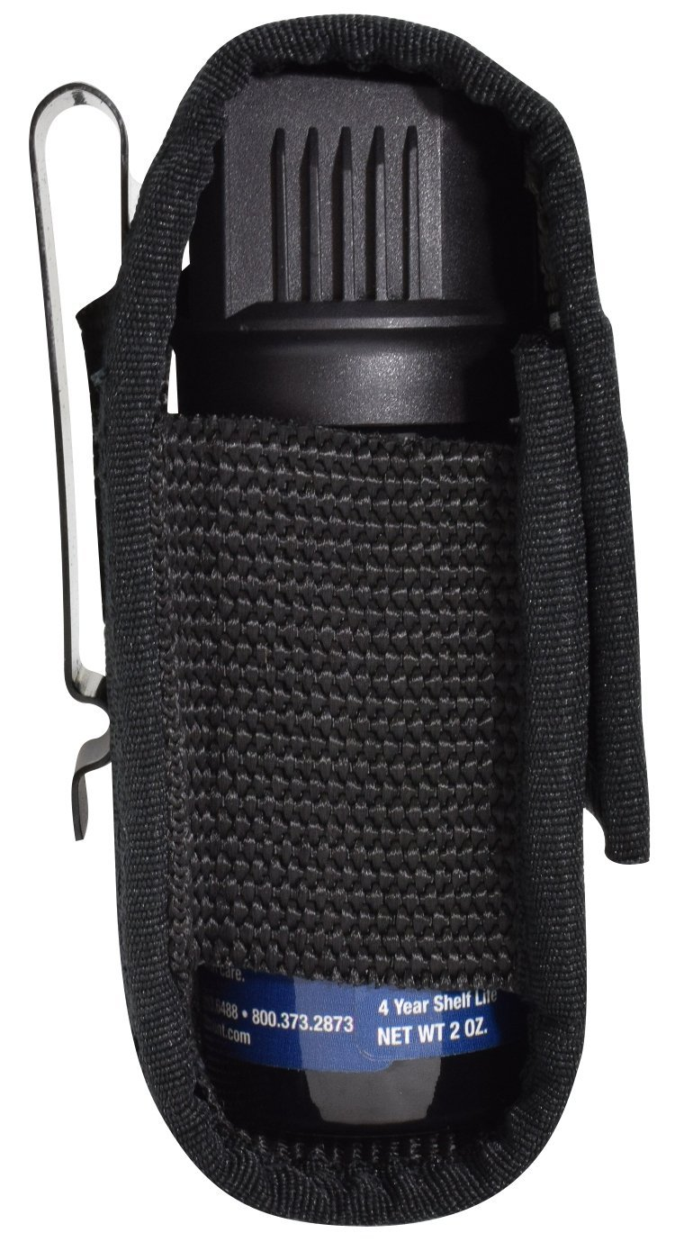 Holster, nylon - (fits 1.5 oz pepper spray, Fox Labs, Sabre, Freeze +P, Wildfire) -Holster only, pepper spray not included. by NW Self Defense Products