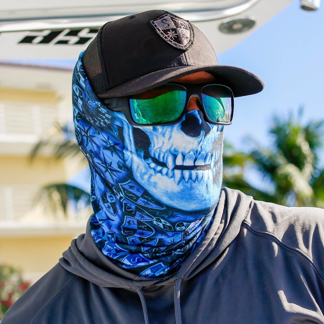 passamontagna scaldacollo per sciare SA Fishing Company andare in motocicletta da utilizzare anche come maschera per Halloween bandana