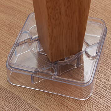 Amazoncom DingHeng Pack Clear Furniture Risers For The Bed - Furniture risers for desk