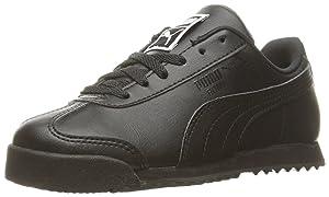 PUMA Boys' Roma Basic PS Sneaker, Puma Black/Puma Black, 1.5 M US Little Kid