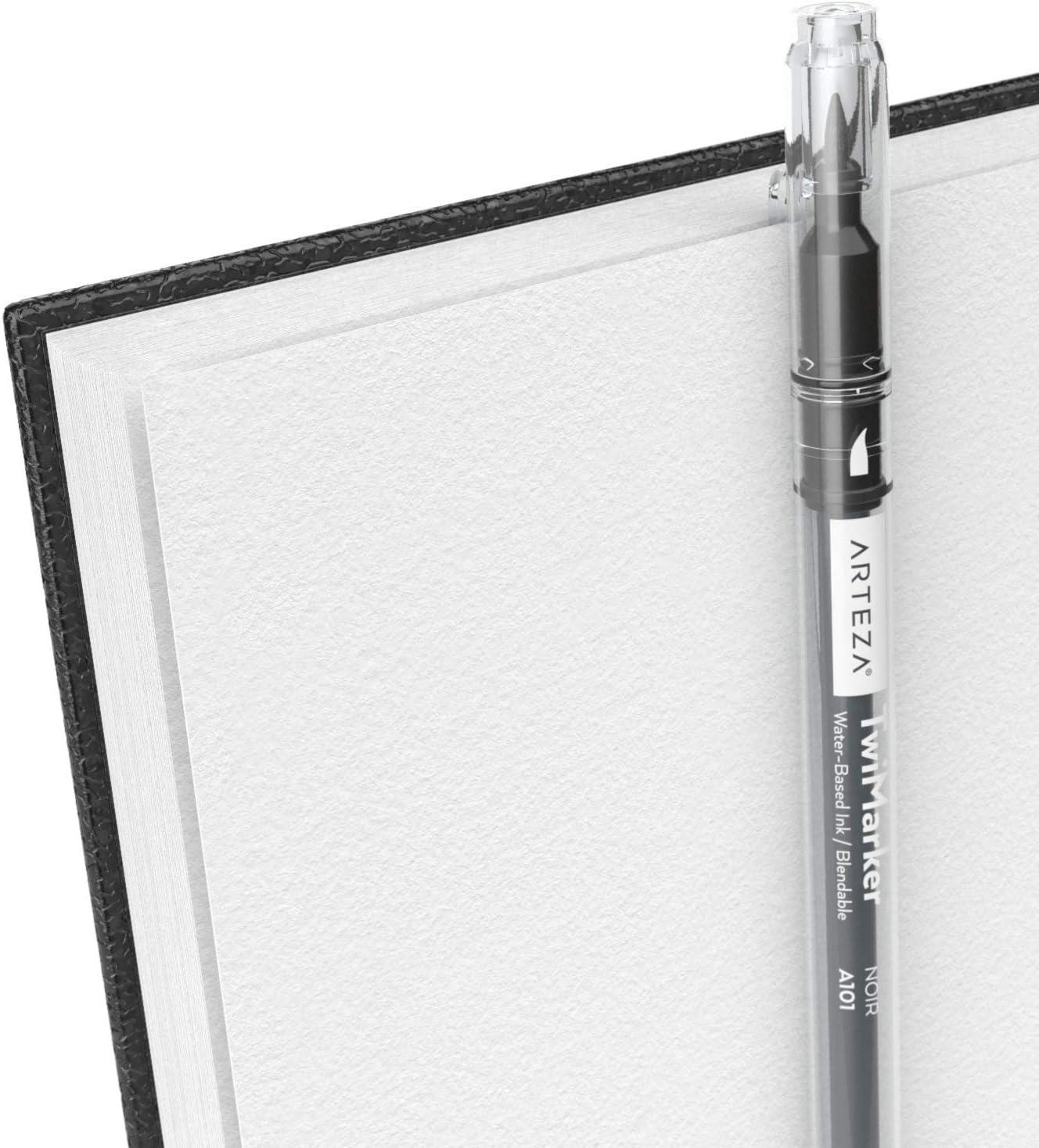 f/ür Bleistifte Skizzenblock in Rosa Wachsmalstifte Arteza Skizzenbuch mit Spiralbindung 2er-Pack 200 Seiten Kugelschreiber Hardcover-Sketchbook 68 lb//100 GSM Kohle 22.9 x 30.5 cm