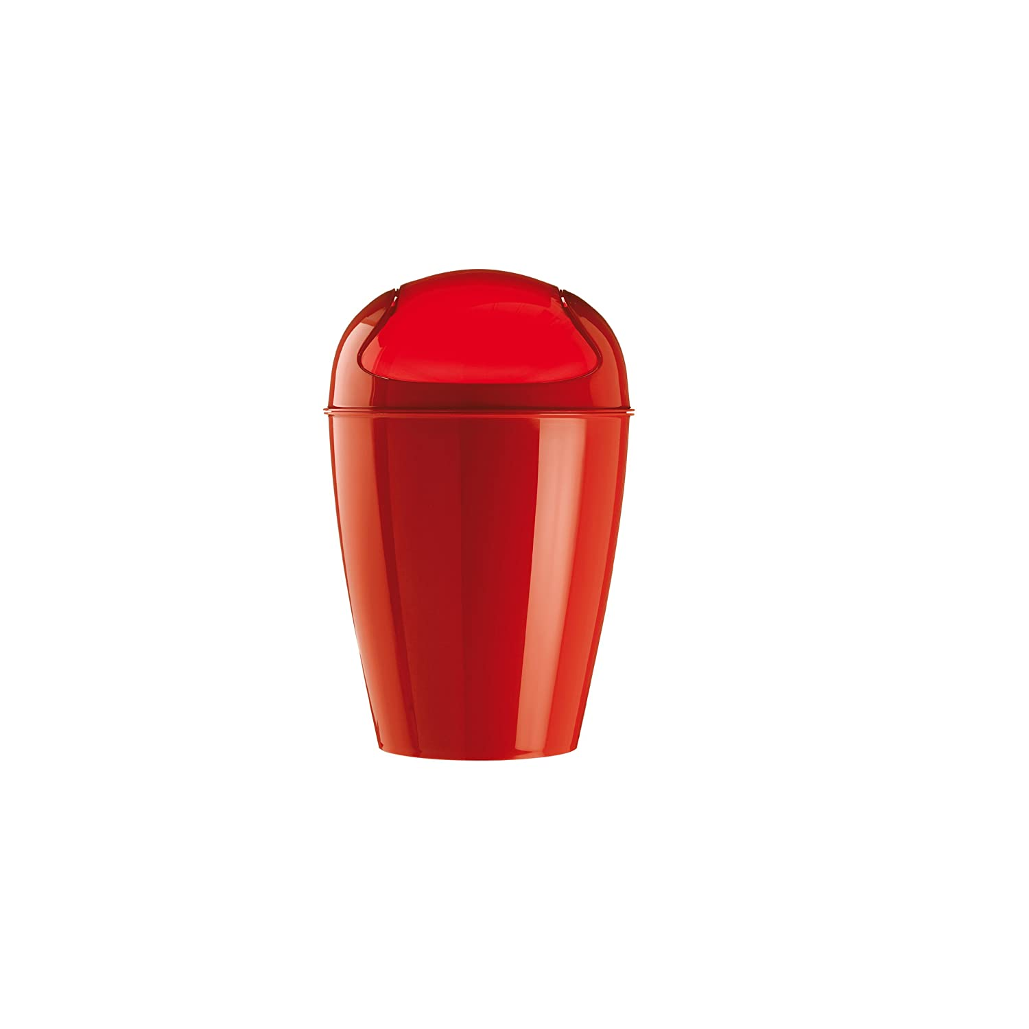 Koziol Del Extra-Small Swing-Top Wastebasket, Strawberry Koziol ideas for friends GmbH 5778555