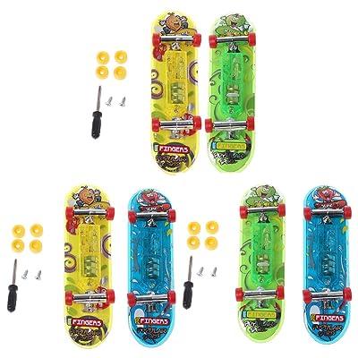 2 unidades LED Mini Skateboard dedos Bord Tech Deck Niños juguete Regalos Baby juguete: Hogar