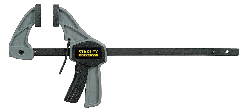 Stanley Einhandzwinge (Grö ß e S, 15 kg Spannkraft, 120 mm Spannweite, 120 mm Lä nge, 76-195 mm Spreizweite) FMHT0-83231 BLAMT
