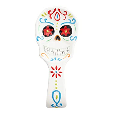 World Market Los Muertos Day of Dead Ceramic Spoon Rest – Cooking Utensil Holder - Ladle Rest Cooking Spoon - Novelty Kitchen Tools and Accessories - Presents for Dia De Muertos Collectors