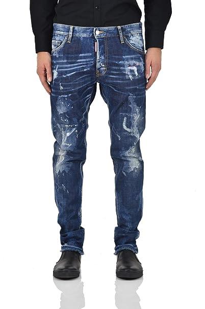 74cebfbe5b DSQUARED2 S74LB0105S30342 pantalones vaqueros Hombre Jeans oscuros 50   Amazon.es  Ropa y accesorios