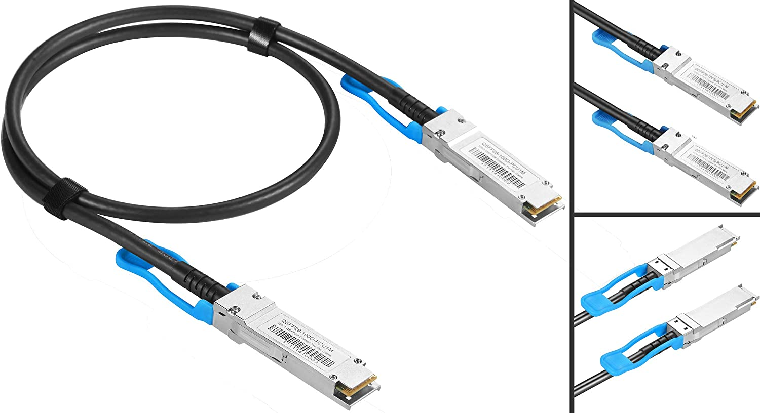 5-Meter 100GBASE-CR4 QSFP28 to QSFP28 Passive Direct Attach Twinax Copper Cables Assemblies for Ubiquiti 100G Ethernet Switches
