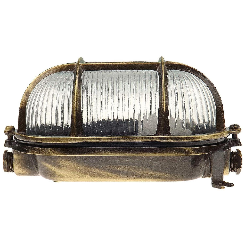 Lampe ovale en laiton Applique murale marine nautique Lumi/ère vintage industrielle Applique dext/érieur hublot Navi Lampe de bateau