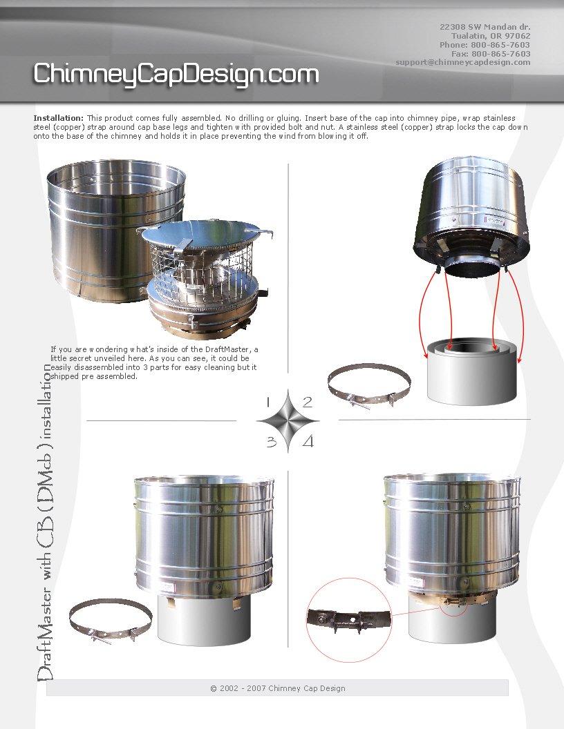 amazon com copper draftmaster 5 chimney cap for round single wall