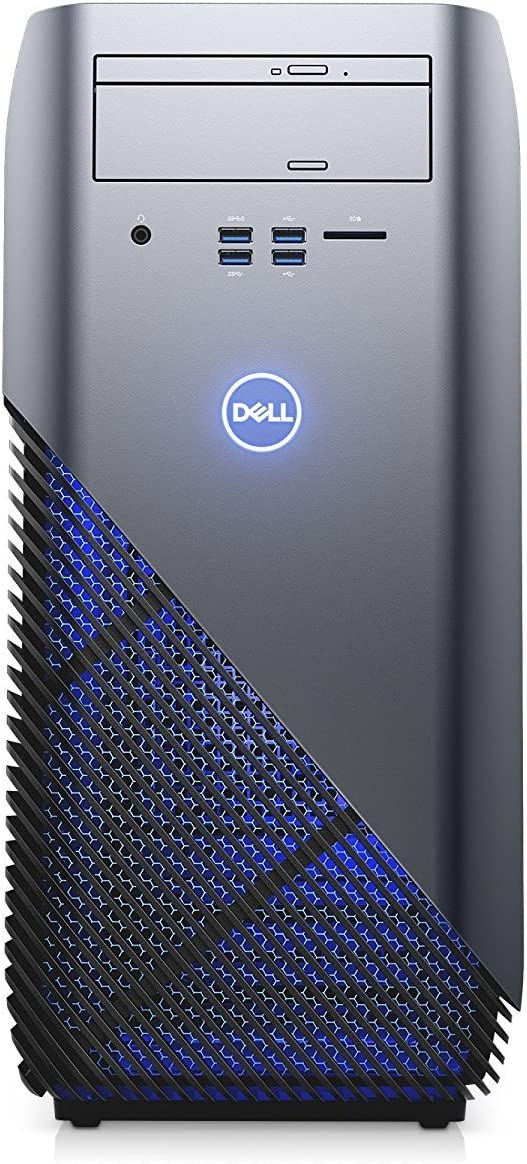 Dell Inspiron 5675 - AMD Ryzen 7 1700X up to 3.8 GHz Processor, 32GB DDR4 Memory, 256GB SSD + 3TB HDD, Nvidia Geforce GTX 1080 8GB Graphics, DVD Burner, Windows 10, Recon Blue (Certified Refurbished)