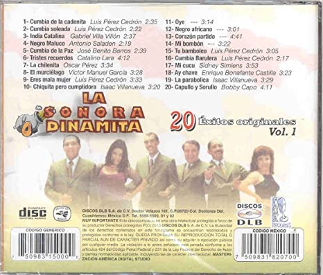 LA SONORA DINAMITA - LA SONORA DINAMITA 20 EXITOS ORIGINALES VOL. 1 - Amazon.com Music