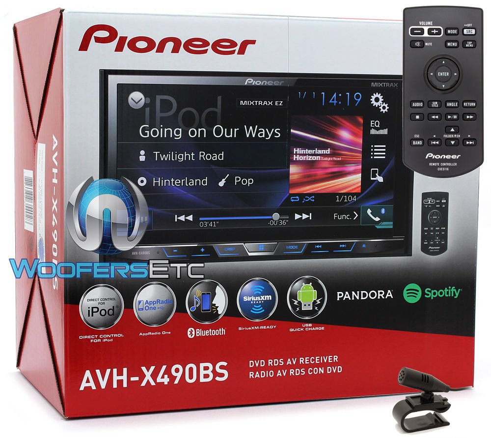 Pioneer AVH-X490BS In-Dash 2-DIN 7'' Touchscreen DVD Receiver with Bluetooth