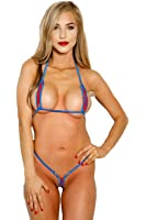 Amazon.com: Bitsy's Bikinis Zipper Bikini - Neon Yellow
