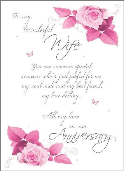 Carte Anniversaire Femme Poème Pour My Wife Amazonfr