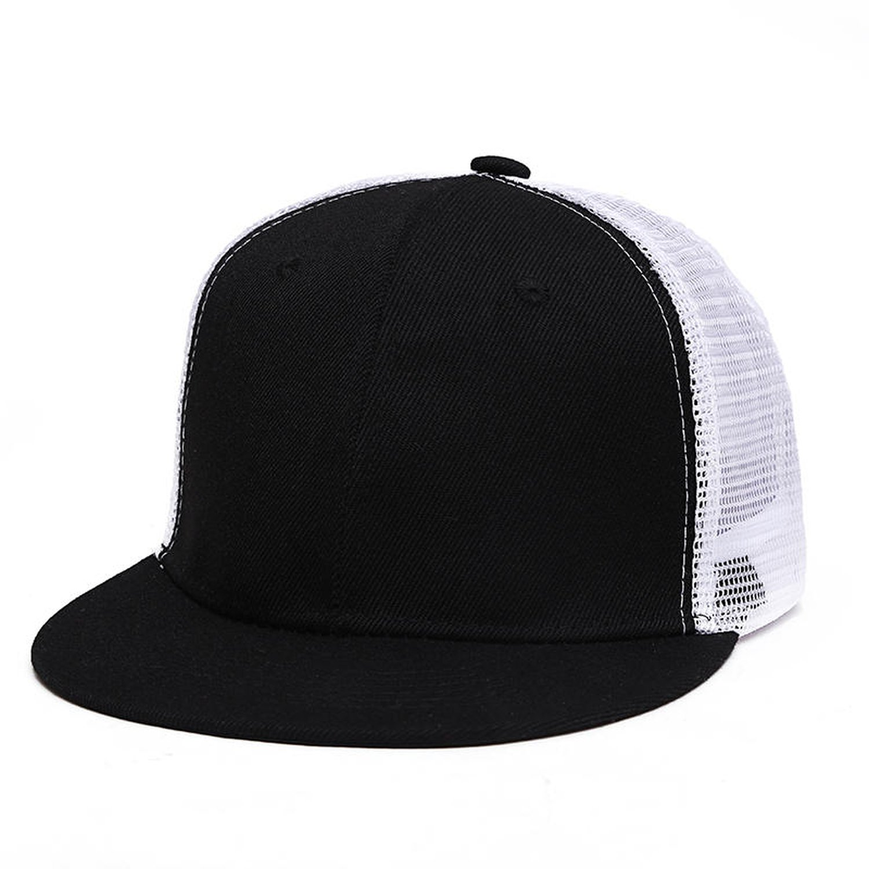 Blank mesh Hats Hip hop Mens Womens Gorras Baseball caps Solid hat, Black White at Amazon Womens Clothing store: