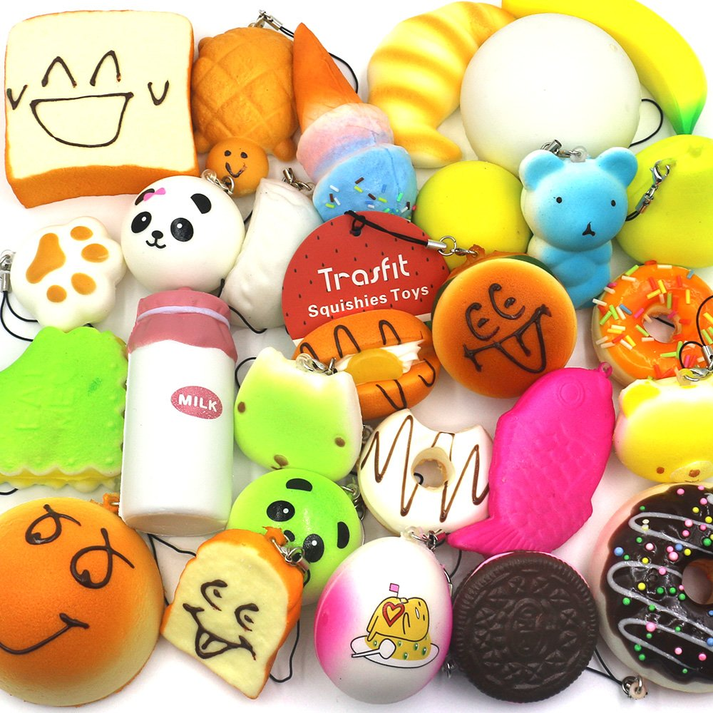Squishy Mushy Argos : Trasfit 10 Pieces Random Squishy Charms Kawaii Soft Foods Jumbo Squishies Cak... eBay