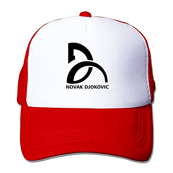 Vintage Novak Djokovic Adult Nylon Adjustable Mesh Hat Hat Red One Size  Fits Most f79517dc3d0