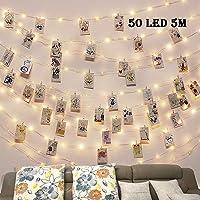 Clip Cadena de Luces LED,LECLSTAR 5m 50 LED