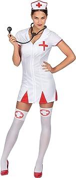 Disfraz enfermera mujer Única: Amazon.es: Juguetes y juegos