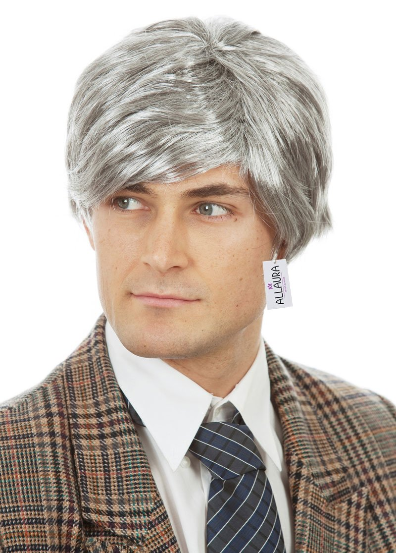 Old Man Wig – Grandpa Wig Kids and Adults – Silver Gray Wig - Old Man Costume