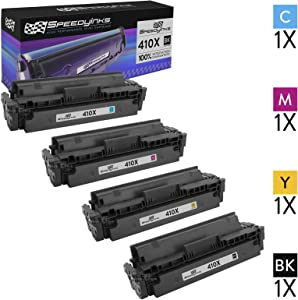 Speedy Inks Compatible Toner Cartridge Replacement for HP 410X High-Yield (1 Black, 1 Cyan, 1 Magenta, 1 Yellow, 4-Pack)