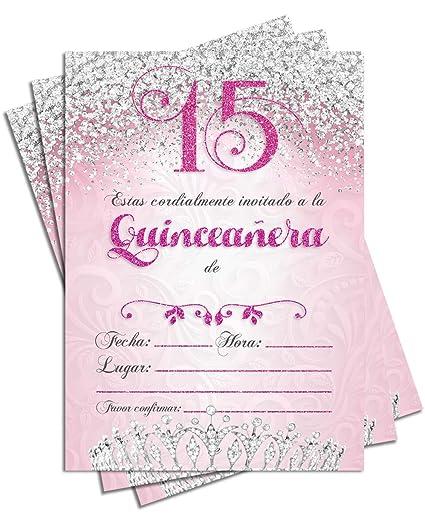25 Invitaciones De Fiesta De Quinceanera 5 X 7 Tarjetas De
