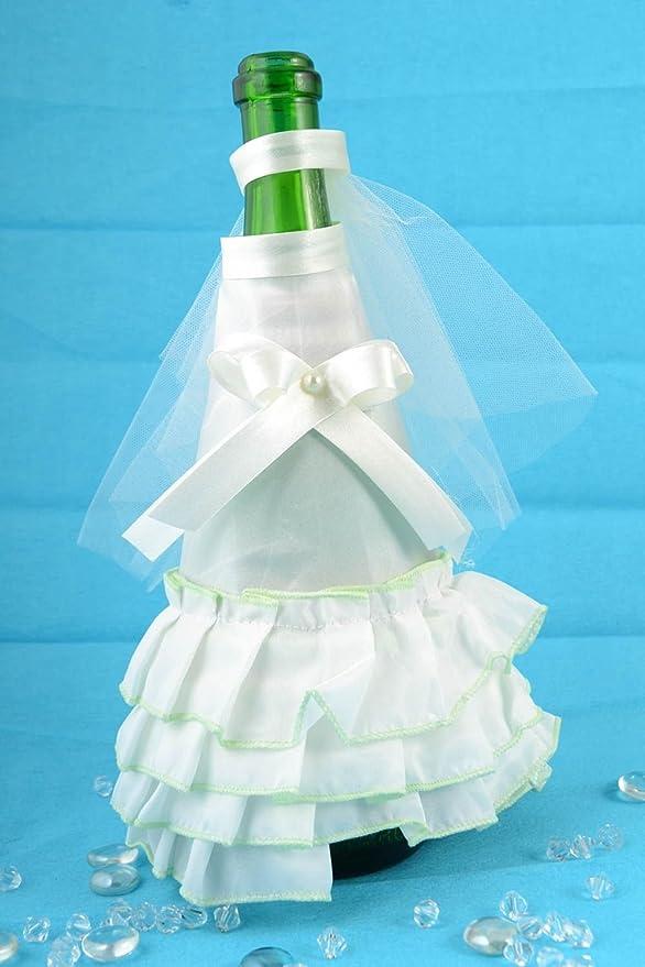 Decoracion para botella de cava traje y velo de novia artesanal ...