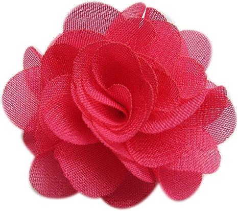 Chiffon Ruffle Flowers Chiffon Flower Fabric Flower 2.5 Ballerina Chiffon Flower Red Scalloped Chiffon Flowers