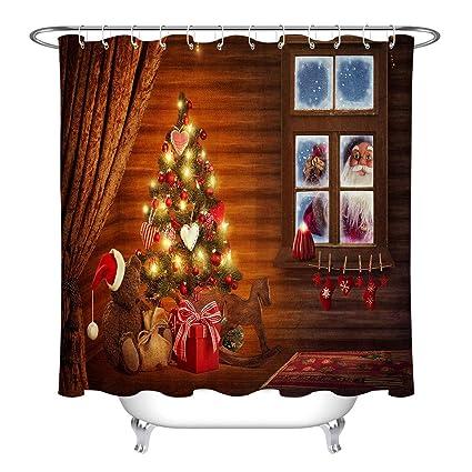 Amazon LB Santa Claus Country Farmhouse Window Christmas Eve