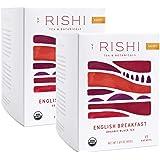 Rishi Tea English Breakfast Herbal Tea   Immune & Heart Support, USDA Certified Organic Black Tea, Caramel Sweetness…