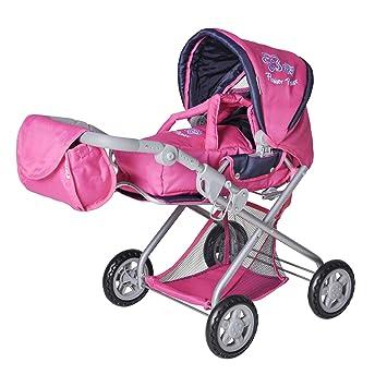 Amazon.es: Knorr 61866 Kyra - Cochecito de bebé de juguete, color rosa: Juguetes y juegos