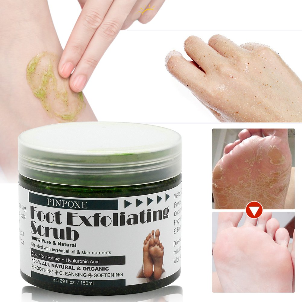 Foot Scrub, Foot Exfoliating Scrub Gel, Foot Callus Remover, Softens Feet, Remove Foot Callus & Dead Skin Cleansing Moisturizing ,Thick Cracked Rough Dead Dry Heel Feet With Natural Phytoextraction by BUOCEANS (Image #5)