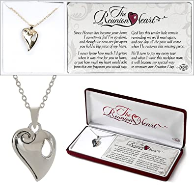 85f1865829c Amazon.com  Dicksons The Reunion Heart Silver Plated 18 inch Chain ...