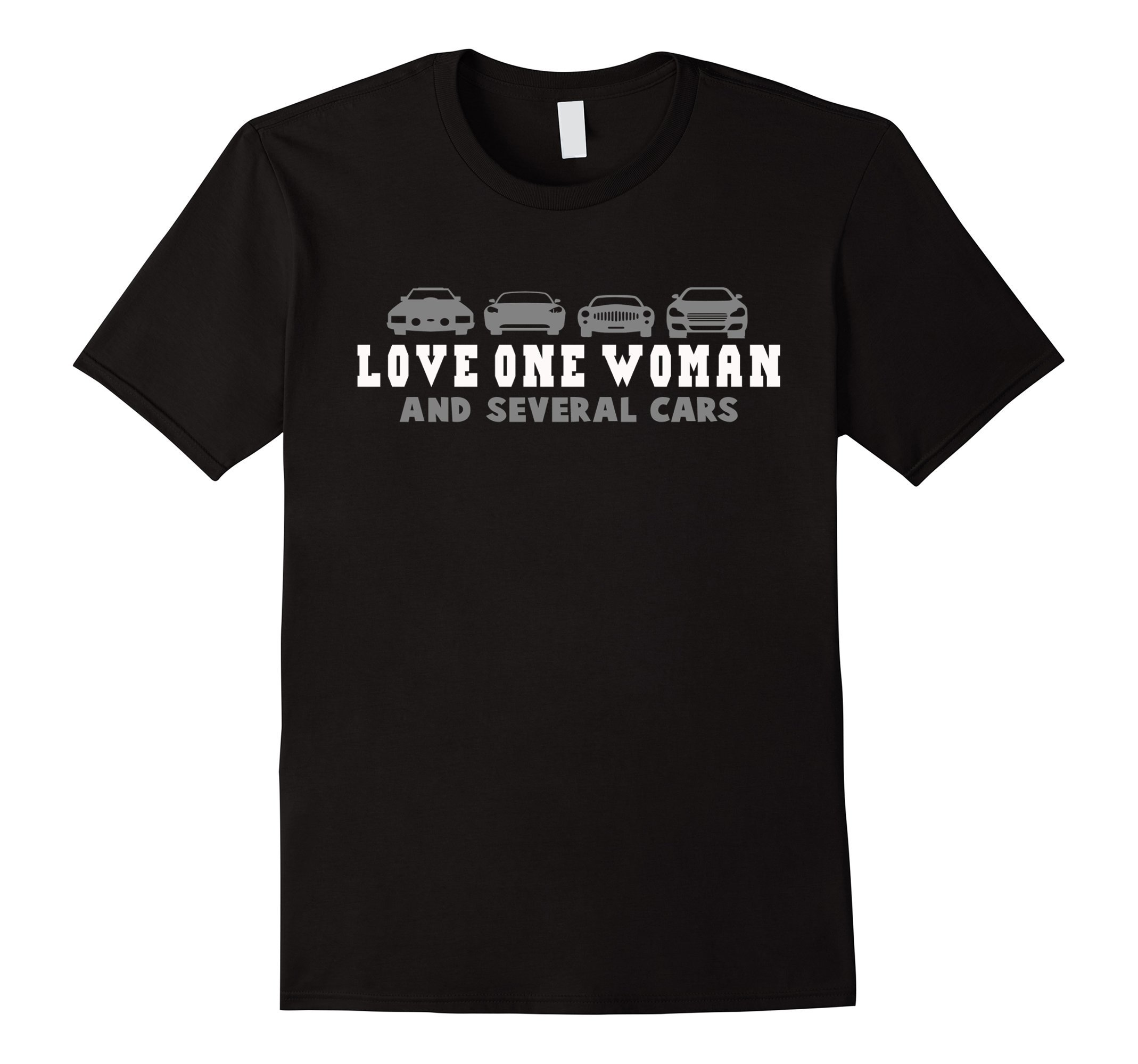 Love One Woman And Several Cars Novelty Gift T-shirt by Funny Car Love Shirt (Image #1)