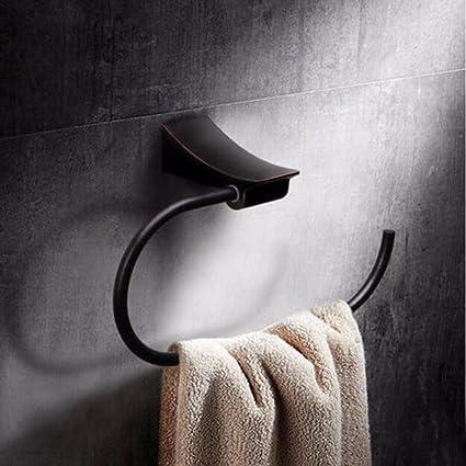Sursy Toallas, toallas de baño estante toallero de bronce oscuro baño baño accesorios de hardware