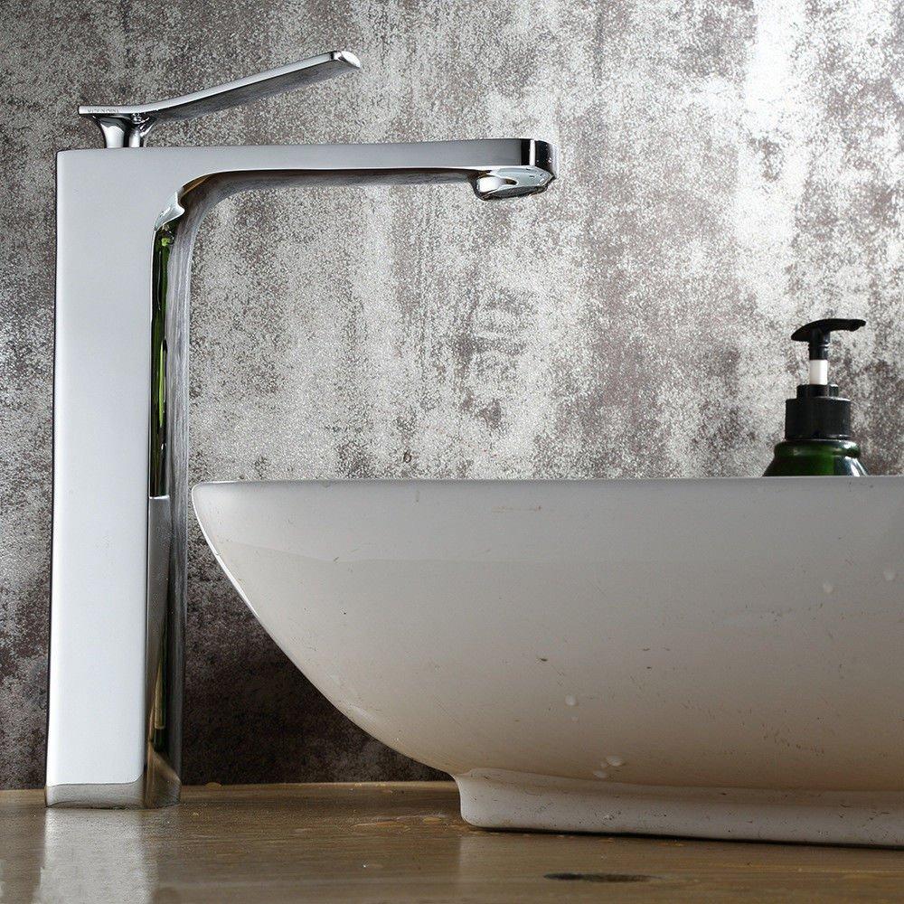 Gyps Faucet Waschtisch-Einhebelmischer Waschtischarmatur Badarmatur Basin-Brass verchromte Oberfläche Waschbecken Bad Armatur Schminkbereich mit Waschbecken Waschbecken Wasserhahn B,Mischbatterie W