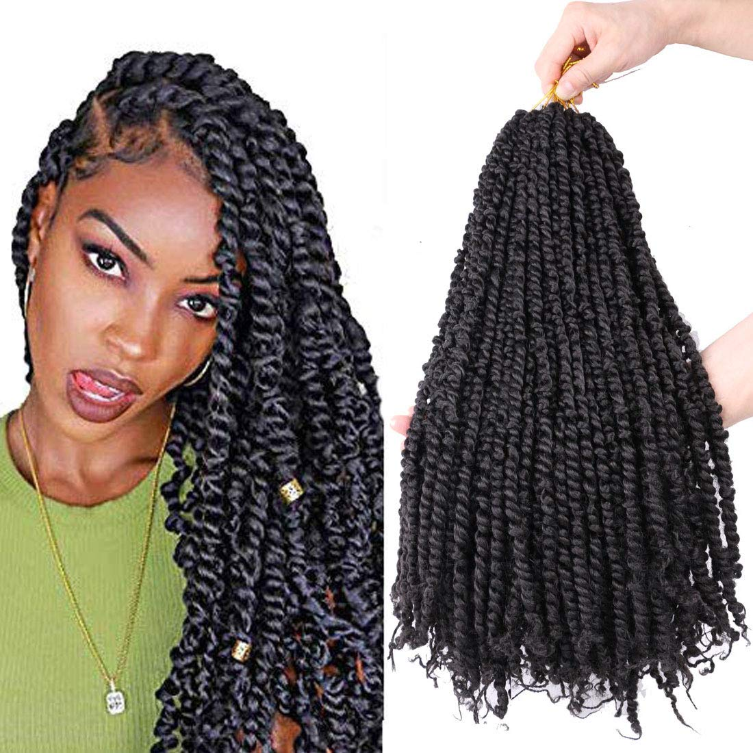 Amazon Com Flyteng 6 Packs Crochet Passion Twist Hair Pretwisted 18 Inch 20 Roots Pack Passion Twists Crochet Hair Extensions Pre Looped Passion Twist Crochet Hair Beauty