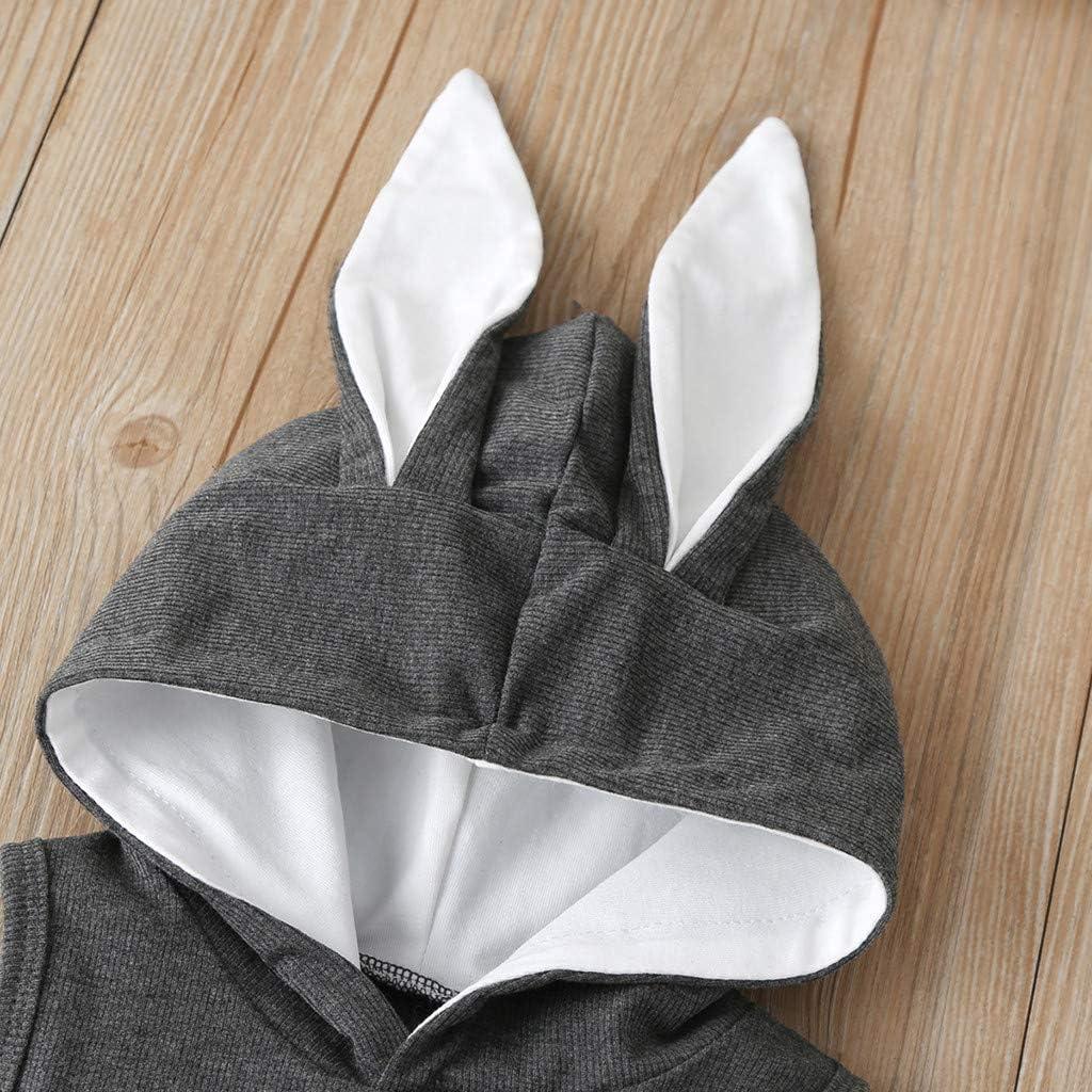 Culater/_tutina Neonato Bello Pigiama di Cotone Pagliaccetto Baby Unisex Vestiti della Tuta del Pagliaccetto del Coniglietto del Coniglio dei Neonati delle Neonate Appena Nate