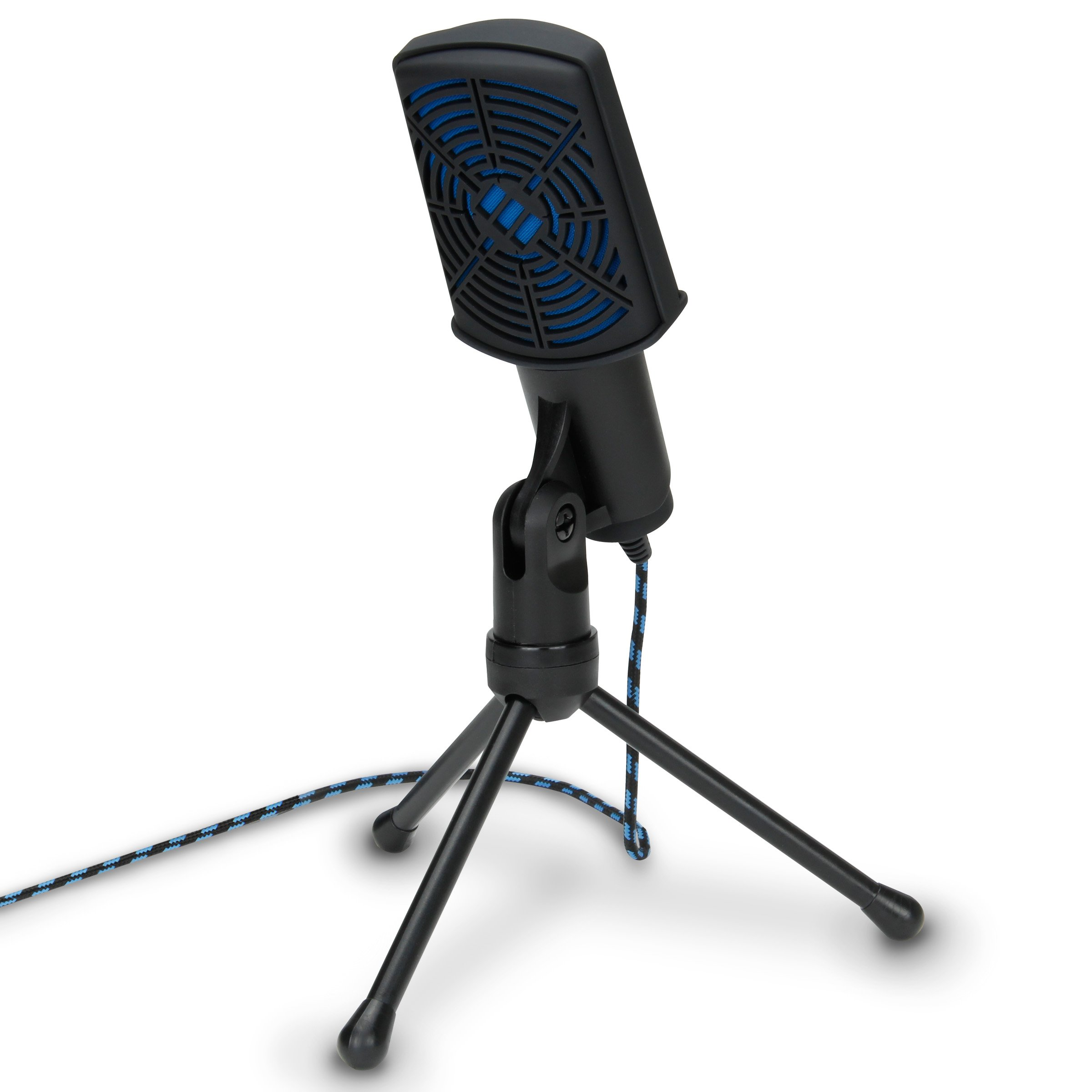 ENHANCE USB Condenser Gaming Microphone - Computer Desktop Mic for Streaming & Recording with Adjustable Stand Design and Mute Switch - For Skype, Conference Calls, Twitch, Youtube, and Discord - Blue by ENHANCE (Image #3)