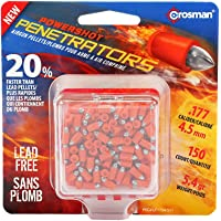 Crosman PowerShot Fast Flight Penetrator Pellets.177 Cal, 5.4 Grains, Pointed, Lead-Free, 150ct