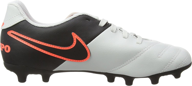 Jr Pure Platinum Tiempo Rio III FG Football Boots