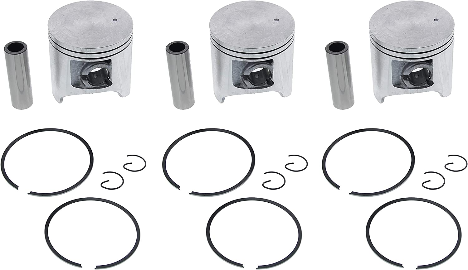 Piston Kit for Arctic Cat ZL 500 1998 1999 2000 Snowmobile by Race-Driven x2