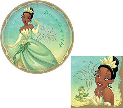 DISNEY PRINCESS Once Upon a Time TIANA LUNCH NAPKINS ~Party Supplies Dinner 16