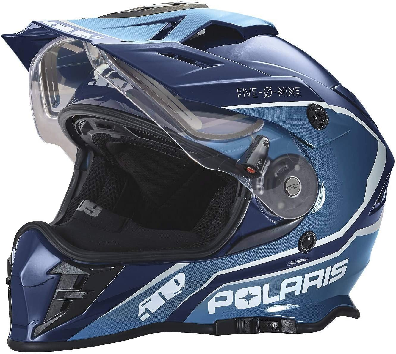 Polaris 509 Delta Adult Moto Helmet with Removable Electric Shield XL