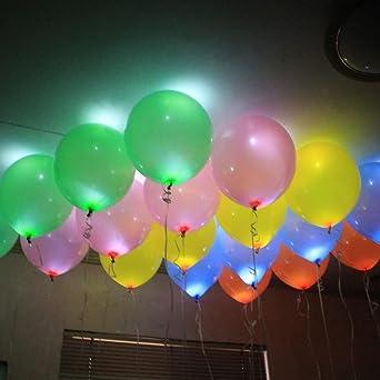 Lot De 60 Ballons LED Lumineuses éclairage Ballon Gonflable Pour Décoration  Maison Jardin Magasin Anniversaire Mariage