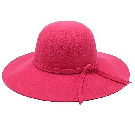 Directo de fábrica de las señoras de lana de invierno sombrero grande sombrero sombrero sombrero de